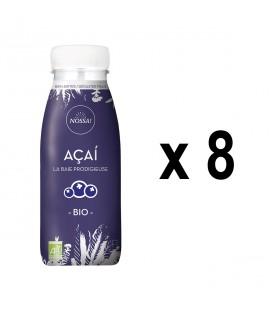 Pack de 8 boissons Açaí, la baie prodigieuse bio