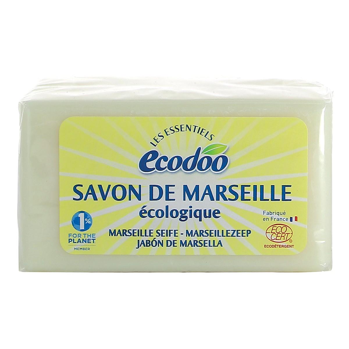 Savon de marseille cologique 400 g ecodoo - Savon de marseille sans glycerine ...