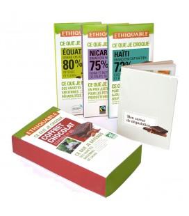 Coffret 3 tablettes de chocolat noir bio & équitable - DERNIERS STOCKS