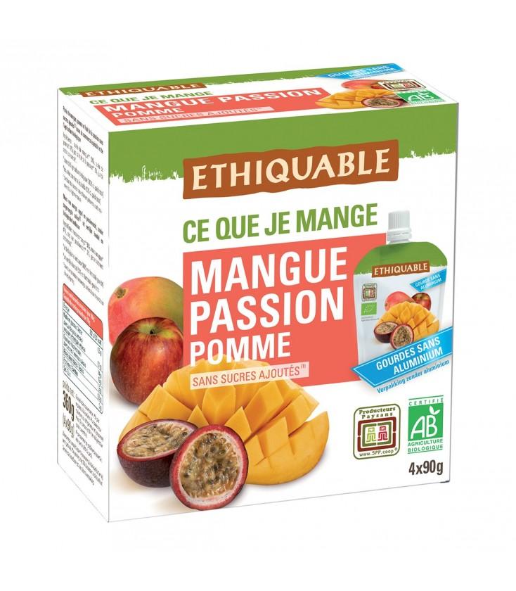Purée Mangue, Passion Pomme bio & équitable en gourdes
