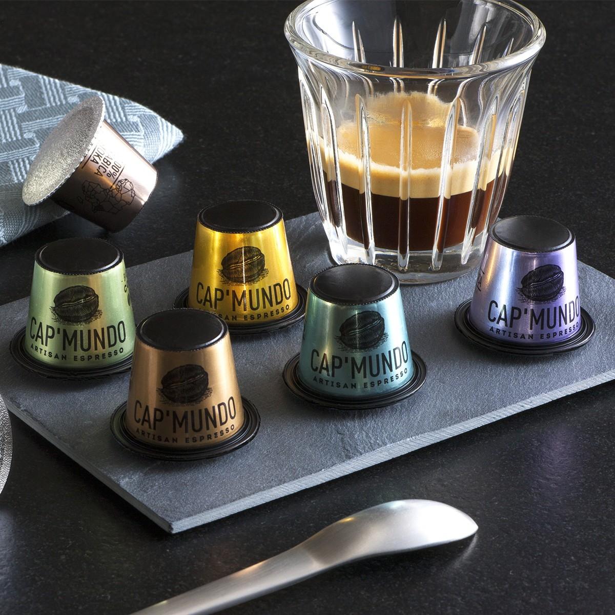 capsules de caf dark ebene puissant x10 capsules dosettes cap 39 mundo. Black Bedroom Furniture Sets. Home Design Ideas
