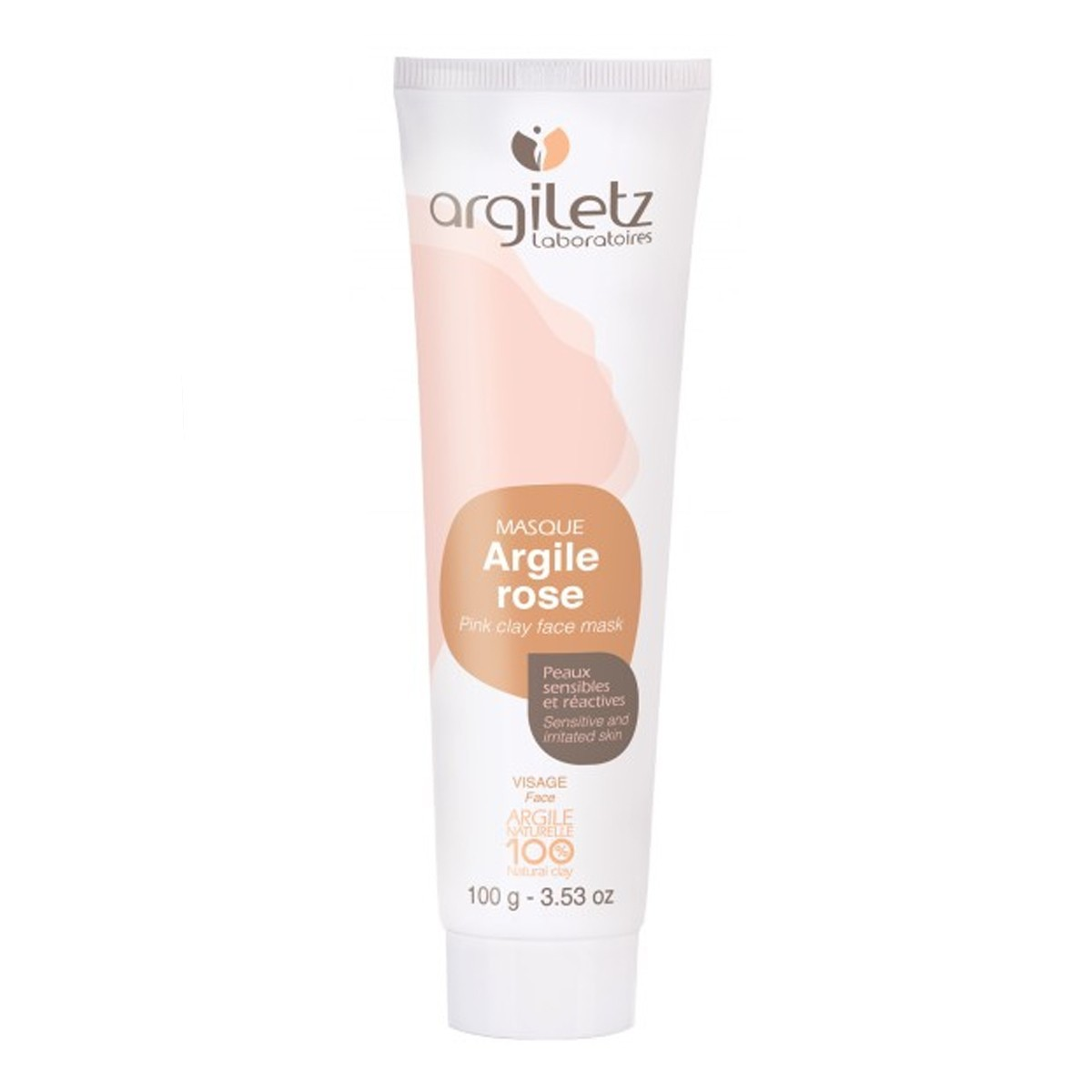 masque pour le visage l 39 argile rose 100 g argiletz. Black Bedroom Furniture Sets. Home Design Ideas