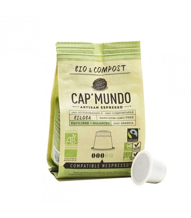 Capsules de café BILOBA (équilibré) bio & équitable x10