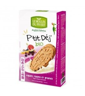 DATE DÉPASSÉE - Biscuits P'tit Déj' Figues, raisins et graines bio & vegan